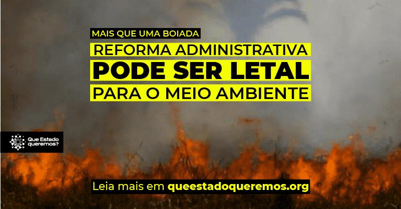 Reforma administrativa pode ser letal para o meio ambiente