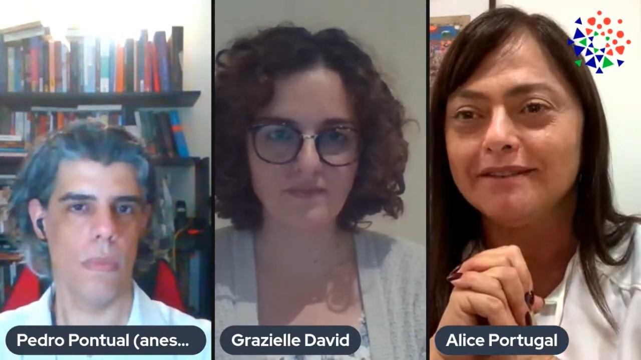 Pedro Pontual, Grazielle David e Alice Portugal participam de live do Que Estado queremos?