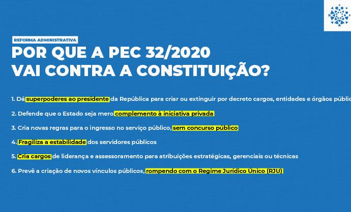 Por que a PEC32/2020 vai contra a Constituição?