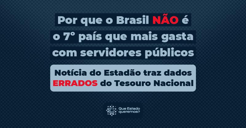 Por que o Brasil não é o 7º país que mais gasta com servidores públicos