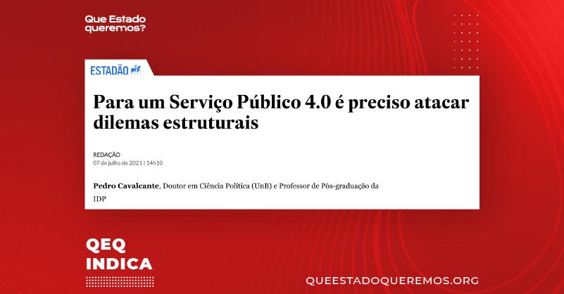 Para um serviço público 4.0 é preciso reformas estruturais